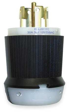 30A Locking Plug 4P 5W 120/208VAC L21-30P BK/WT