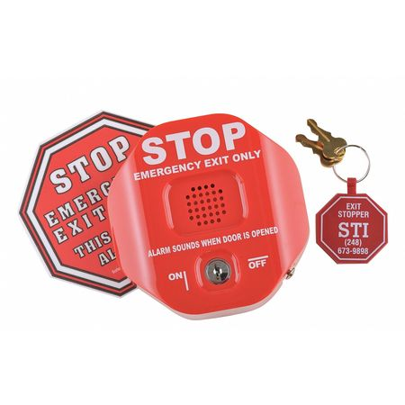 Exit Door Alarm, Annunciation, 95 to 105dB