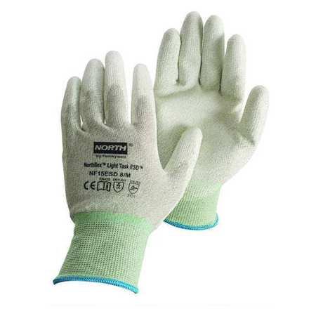 Antistatic Gloves, Gray, L, PR