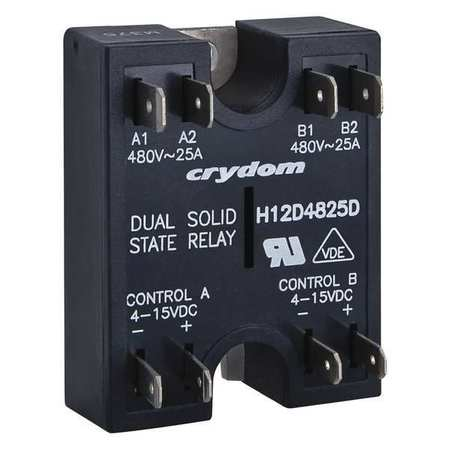 Dual Solid State Relay, 4 to 15VDC, 40A