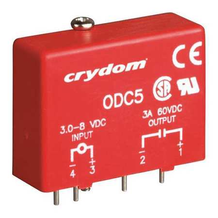 Input/Output Relay, 3A, Plug-In, Red