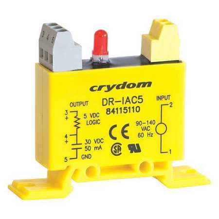 Input/Output Relay, 50mA, DIN Rail, Yellow