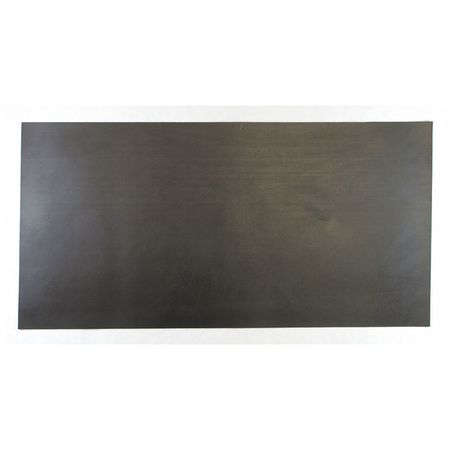 "1"" Comm. Grade Buna-N Rubber Sheet,  12""x24"",  Black,  70A"