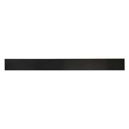 "1/2"" Comm. Grade Neoprene Rubber Strip,  2""x36"",  Black,  60A"