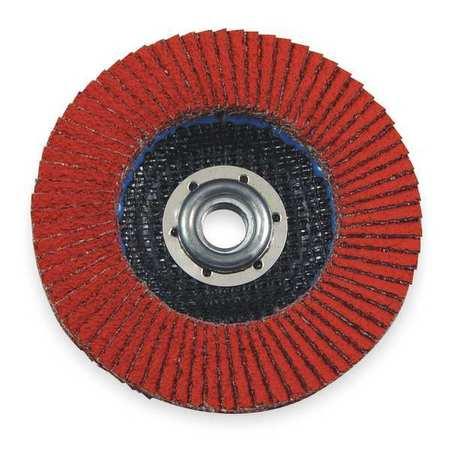Arbor Mount Flap Disc, 4-1/2in, 40, Coarse