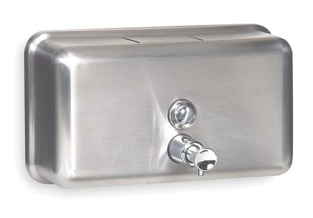 Soap Dispenser Silver, Wall Mount