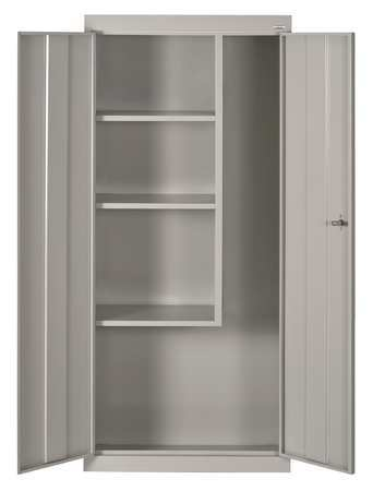 Janitorial Storage Cabinet, Welded, 24 ga.