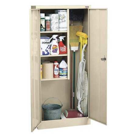 Janitorial Storage Cabinet, Welded, 24 ga.