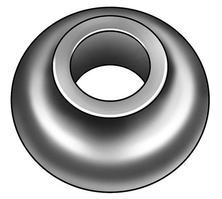 "1/2"" x 2.000"" OD Cast Iron Hot Dipped Galvanized Finish Standard Ogee Washers,  50 pk."