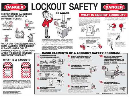 Poster, 18X24, Lockout Safety, English