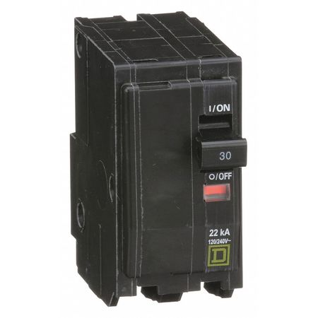 Qwik-Open 2P High Interrupt Capacity Circuit Breaker 30A 120/240VAC