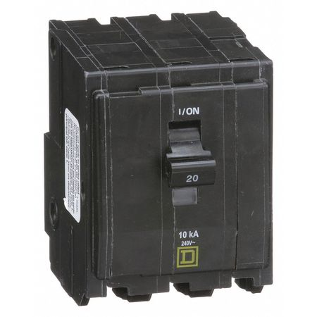 Qwik-Open 3P Standard Plug In Circuit Breaker 20A 240VAC