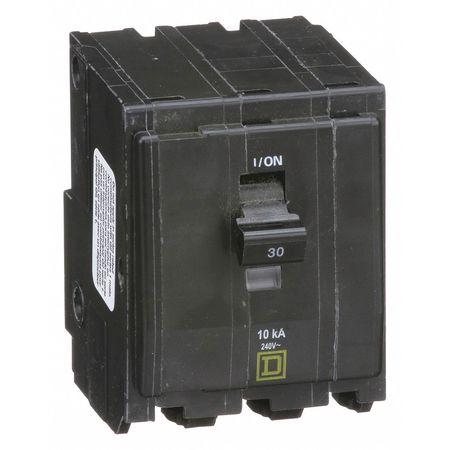 SQUARE D QO330 Qwik-Open 3P Standard Plug In Circuit Breaker 30A 240VAC