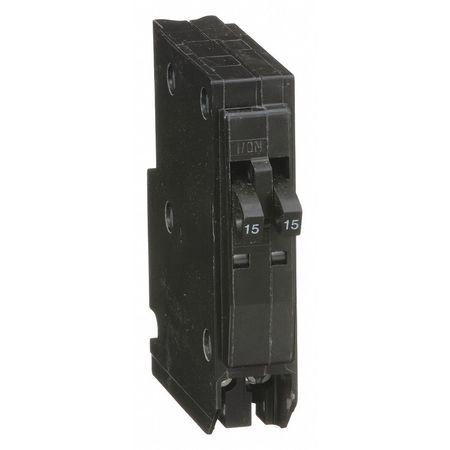 Qwik-Open 1P Tandem Plug In Circuit Breaker 15A 120/240VAC
