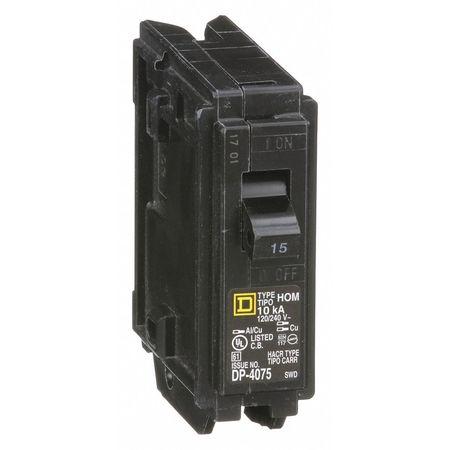 1P Standard Plug In Circuit Breaker 15A 120/240VAC