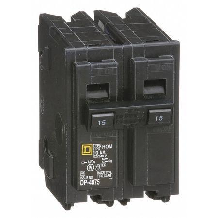 2P Standard Plug In Circuit Breaker 15A 120/240VAC