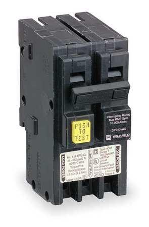 2P GFCI Plug In Circuit Breaker 30A 120/240VAC