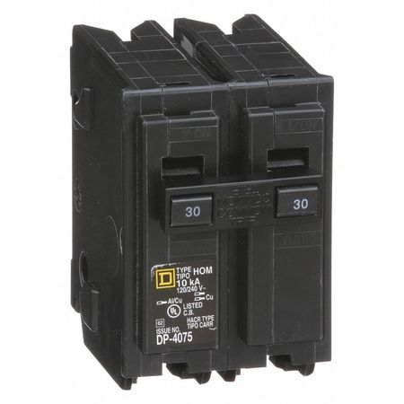 2P Standard Plug In Circuit Breaker 30A 120/240VAC