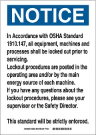 Notice Security Sign, 14 x 10In, PLSTC, ENG