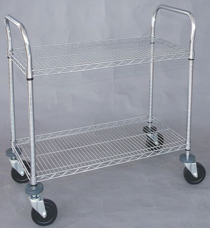 Wire High Cart, Heavy Duty, 24x36x39 In