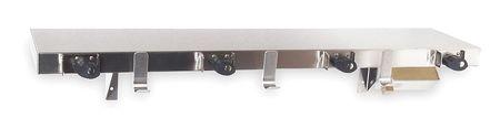 Utility Shelf w/Mop Holders, 36x9-1/8In