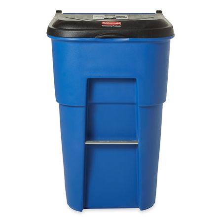 blue rectangular trash can - Rubbermaid Garbage Cans