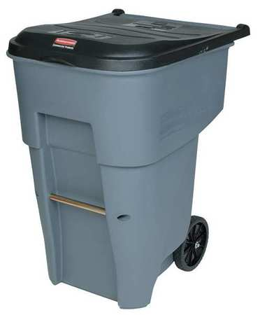 65 gal.  Rectangular  Gray  Trash Can w/ Lid