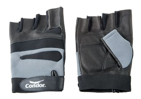 Anti-Vibration Gloves, L, Black/Silver, PR