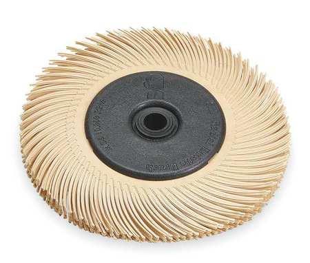Radial Bristle Brush, T-C, 6x7/16, 6 Micron