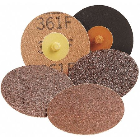 Qk Change Disc, AlO, 1-1/2in, 120G, TR, PK50