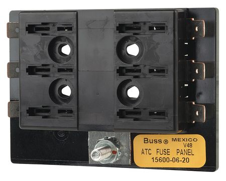 Fuse Block, Automotive, 30A, 6 Pole