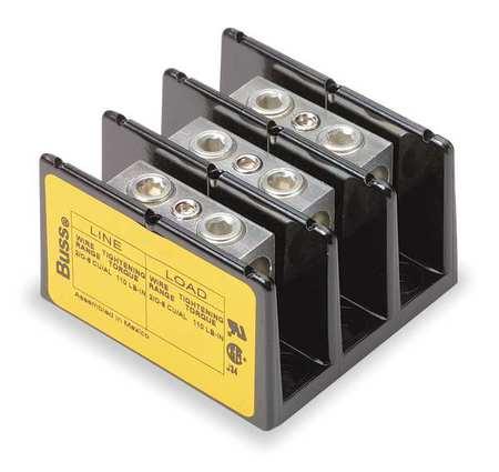 Min Pwr Dist Block, 175A, 3P, 2/0-8AWG, 600V