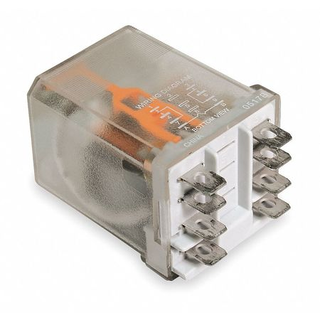 Plug In Relay, 8 Pins, Square, 12VAC