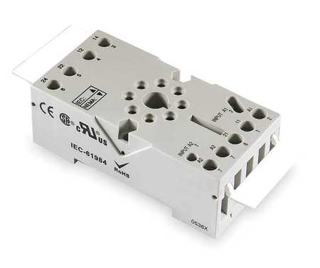 Relay Socket, Elevator, Octal, 8 Pin, 12A