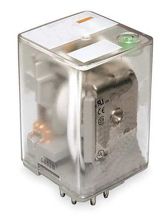 Plug In Relay, 11 Pins, Octal, 240VAC