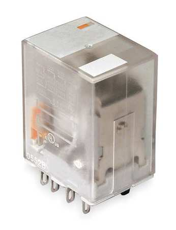 Plug In Relay, 14 Pins, Square, 240VAC