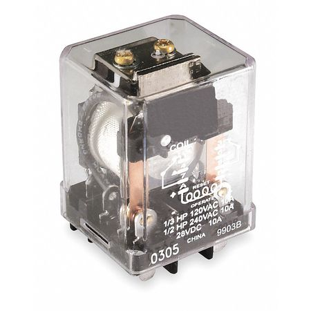 Latching Relay, 8 Pins, Square, 24VDC