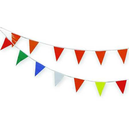 Pennants, Vinyl, Multicolor, 60 ft.