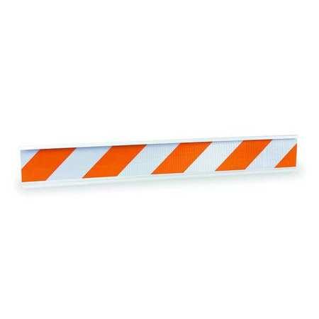 Barricade Beam, Orange/White, 4 lb.