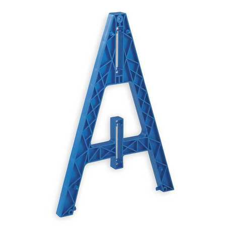 Barricade A-Frame Leg, Blue, 29 In L