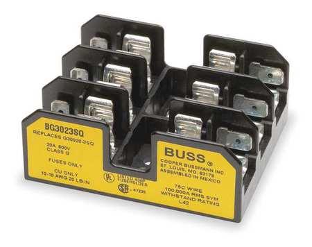 Fuse Block, Industrial, 20A, 3 Pole