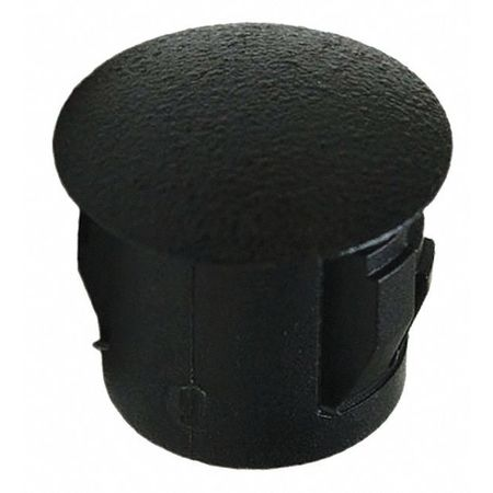 Hole Plug, Hole D 7/16 In, Blk, PK25