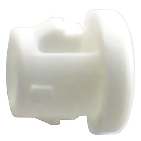 Bushing, Nylon, OD 1.609 In, Wh, PK25