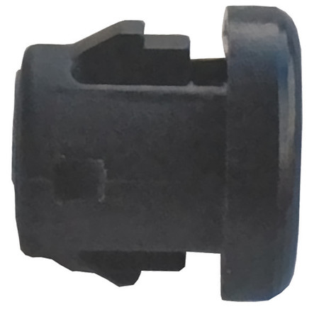 Bushing, Nylon, OD 0.468 In, Blk, PK25