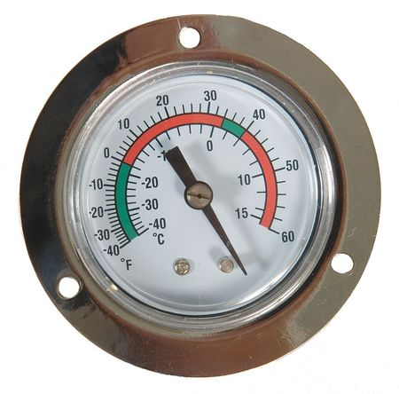 Analog Panel Mt Thermometer, -40 to 60F