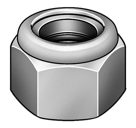 M30-3.50 Class 10 Plain Finish Low Carbon Steel Nylon Insert Lock Nut