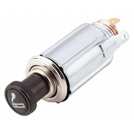 Short Knob Lighter, Black/Silver
