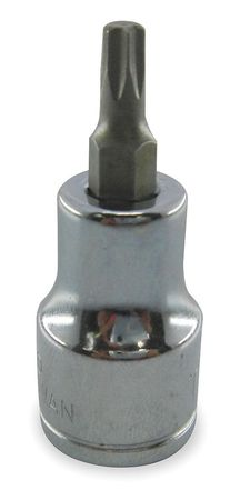 Socket Bit, 1/4 in. Dr, T25 Torx(R)