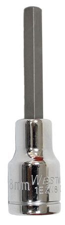 Socket Bit, 1/2 in. Dr, 8mm Hex