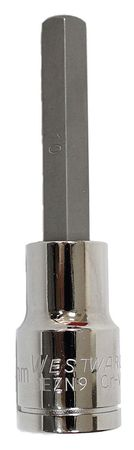 Socket Bit, 1/2 in. Dr, 10mm Hex